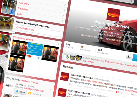 Warrington Service Centre Twitter Profile
